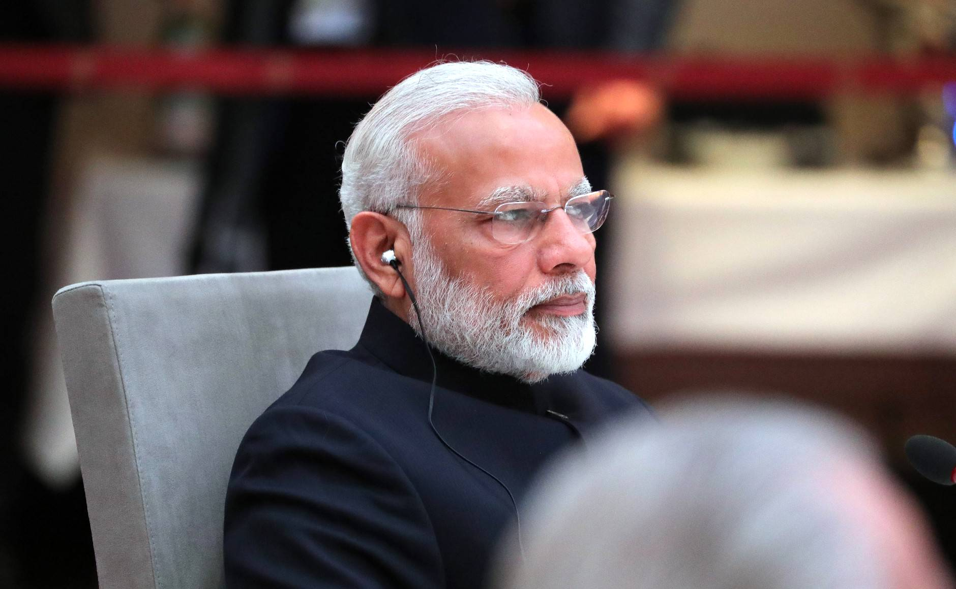 File:Prime Minister of India Narendra Modi at an informal meeting of heads of state and government of the BRICS countries, Hamburg 2017.jpg - Wikimedia Commons
