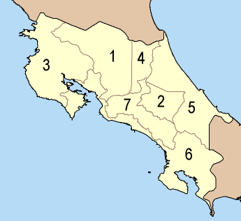 Provincies van Costa Rica