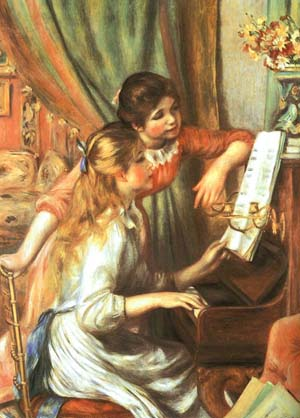 Renoir, Pierre-Auguste - Two Girls at the Piano 1892