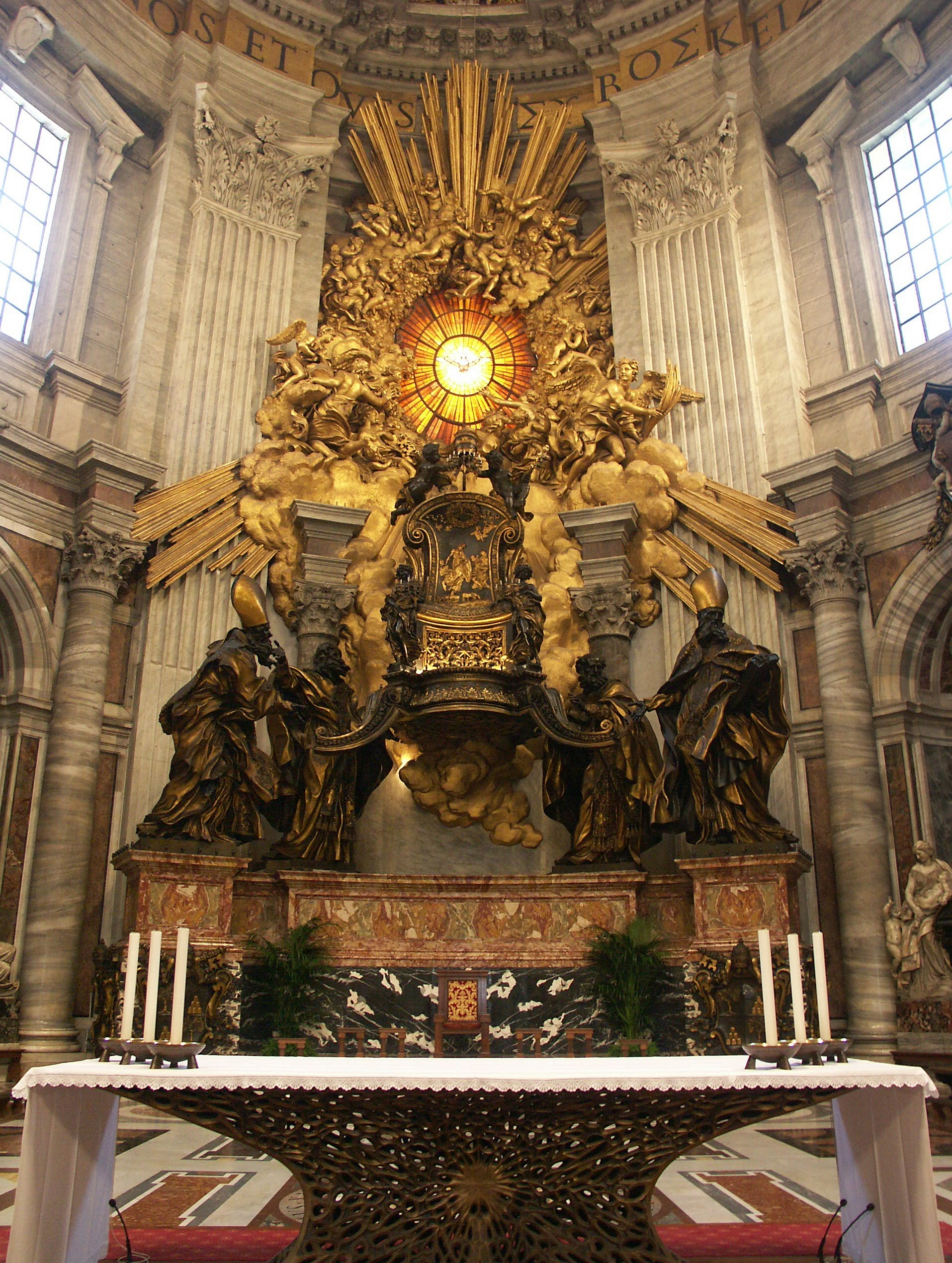 Image result for free pictures  of the Chair of St. peter