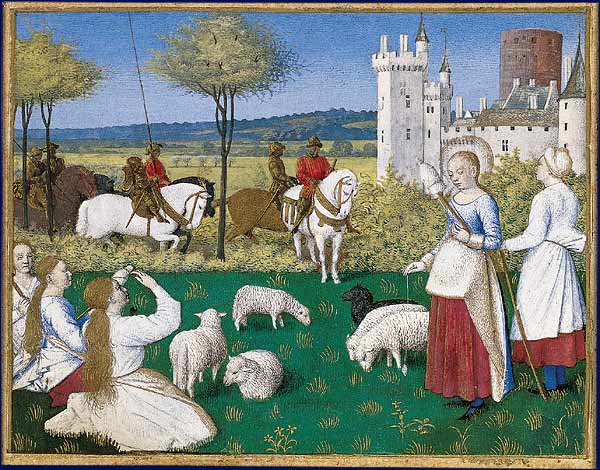 Margareta tiltrekker seg oppmerksomheten til den romerske prefekten, av Jean Fouquet (fra et illuminert manuskript).