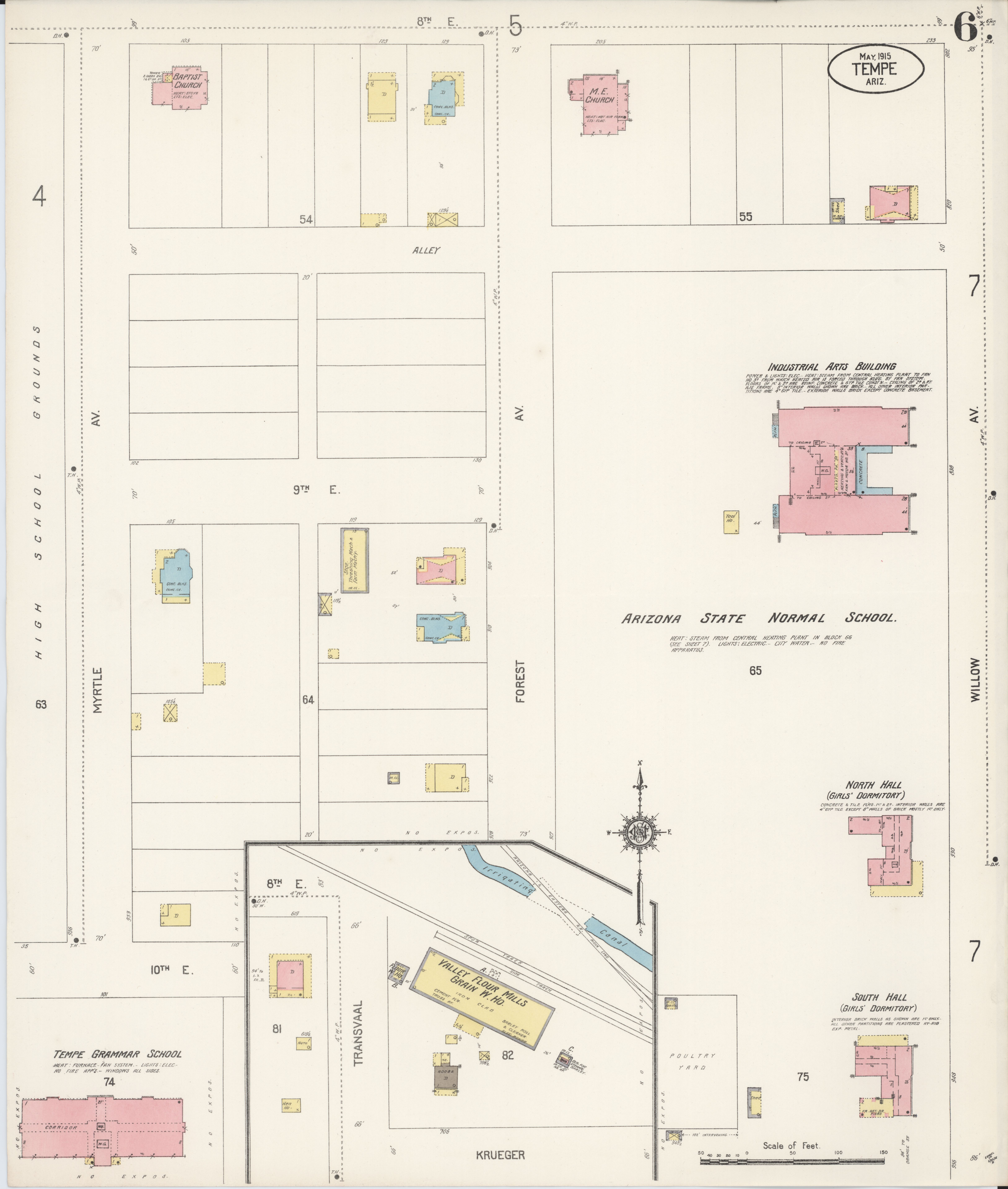 File Sanborn Fire Insurance Map from Tempe Maricopa County Arizona