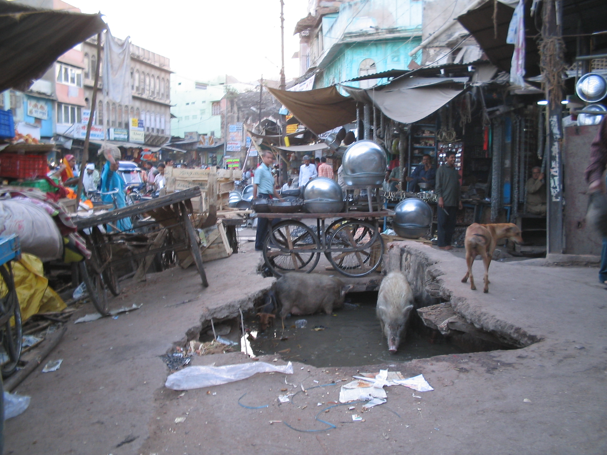Ajmer India  City new picture : Sewer drains. Ajmer. india Wikimedia Commons