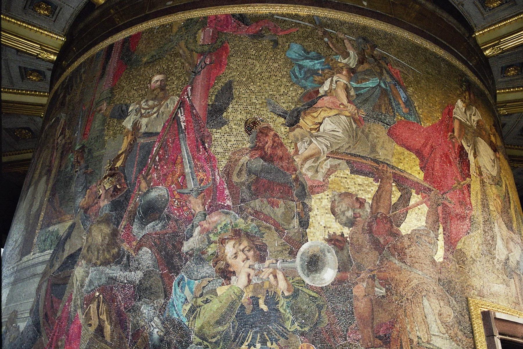 Mosaik Berlin file siegessaeule berlin december 2004 mosaic 01 jpg wikimedia