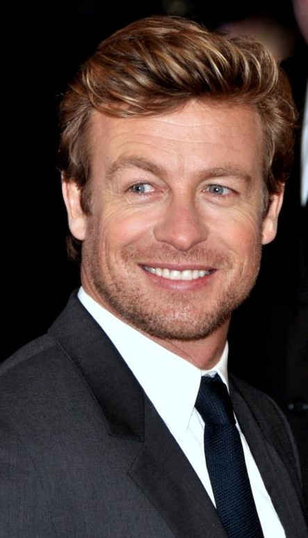 Simon Baker  - 2018 Regular blond hair & simple hair style.
