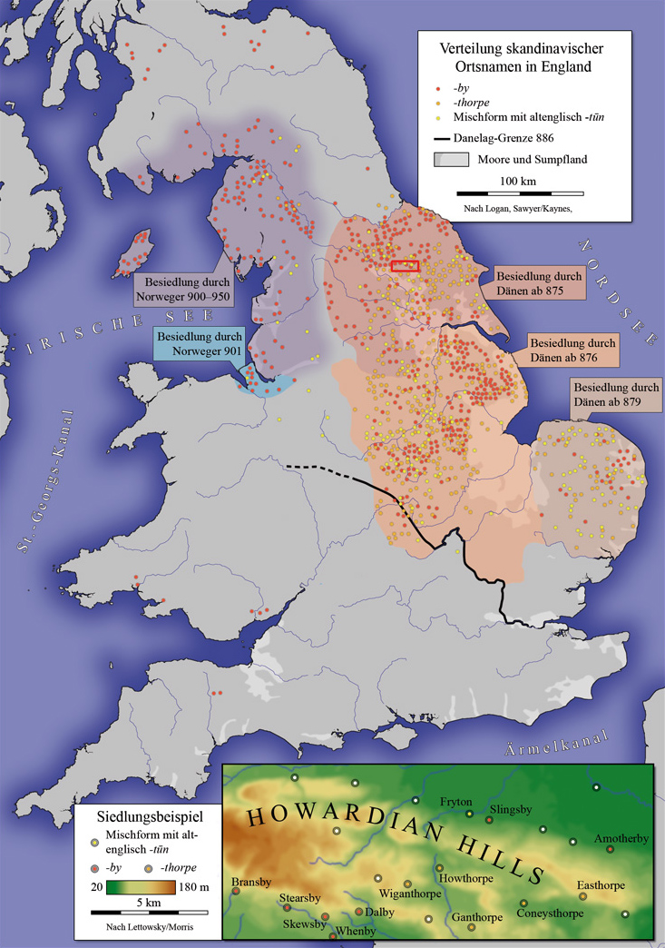 Map Of England 950.Place Names In Great Britain Of Scandinavian Origin 733x1044 More