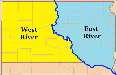 West River South Dakota Wikipedia - Political map of south dakota