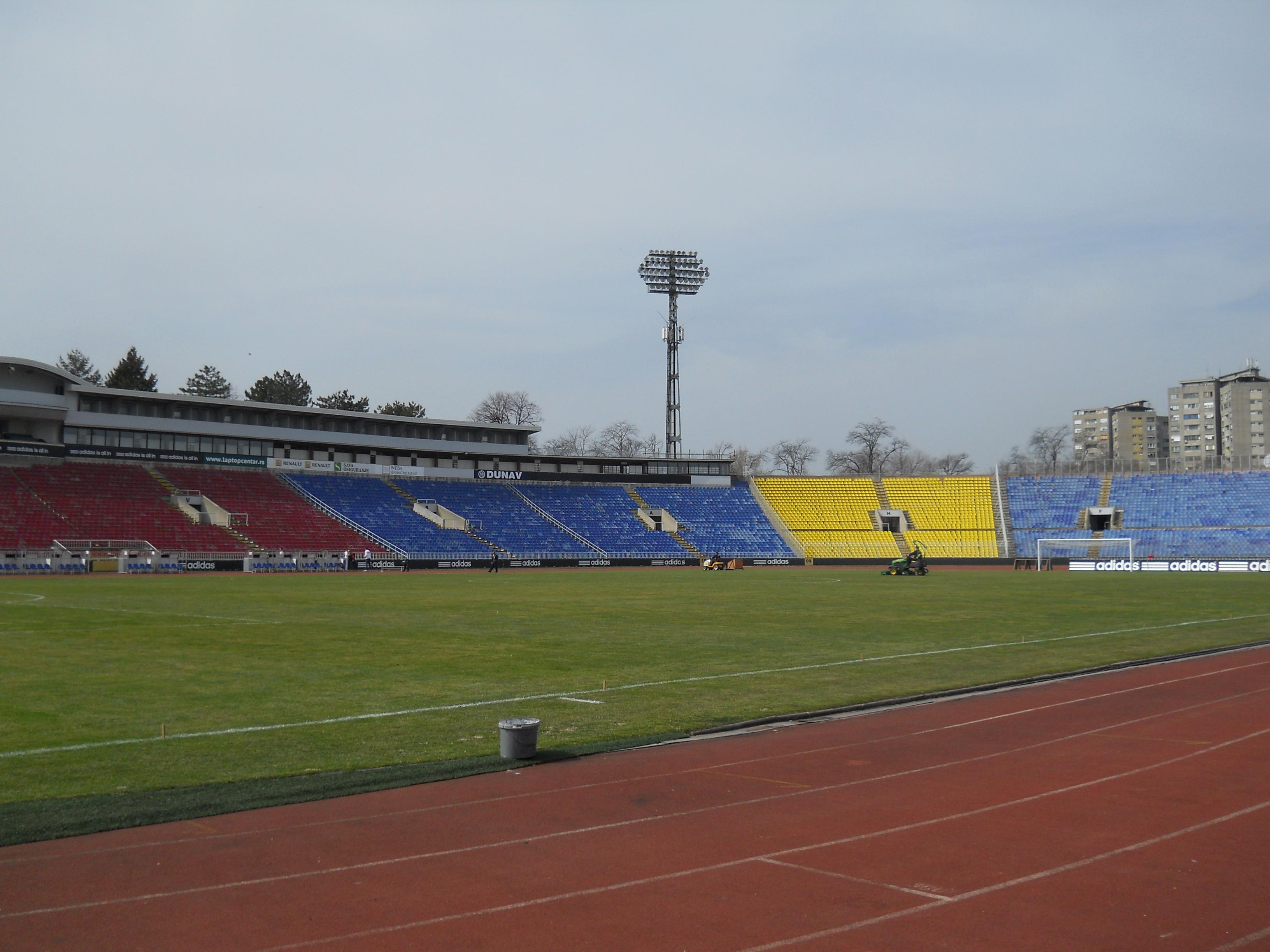 Depiction of Estadio Partizan