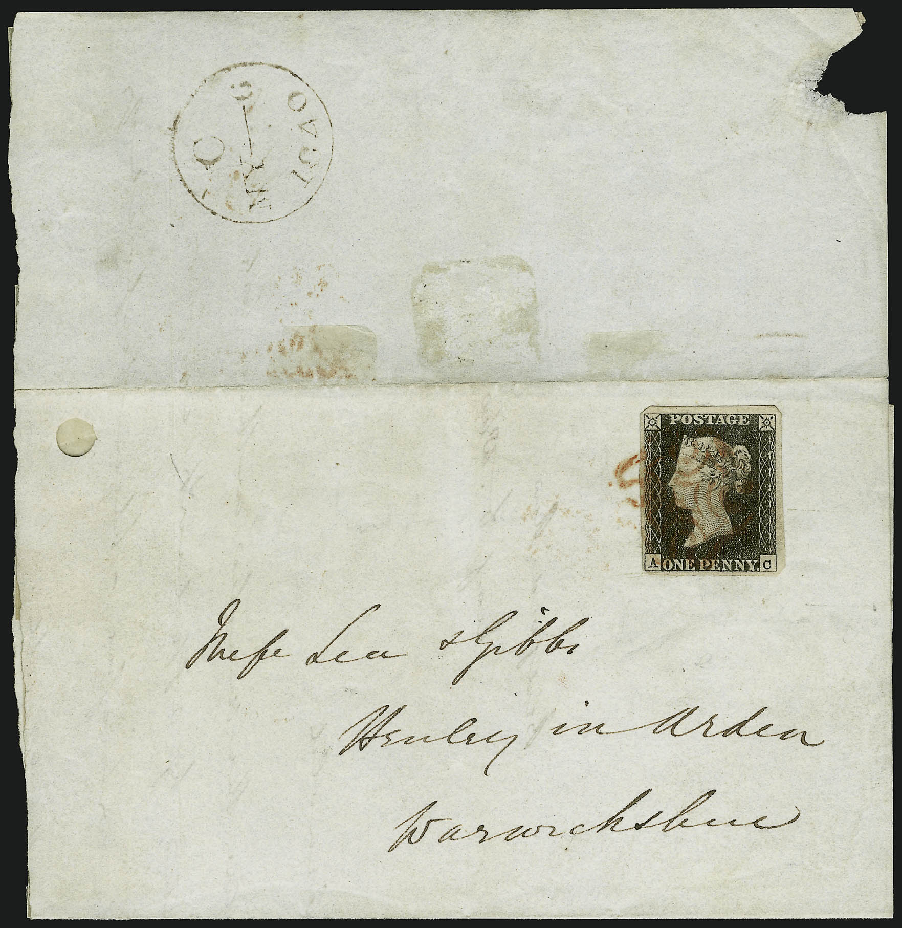 File:Stamp GB-Penny Black first day cover.jpg - Wikimedia Commons