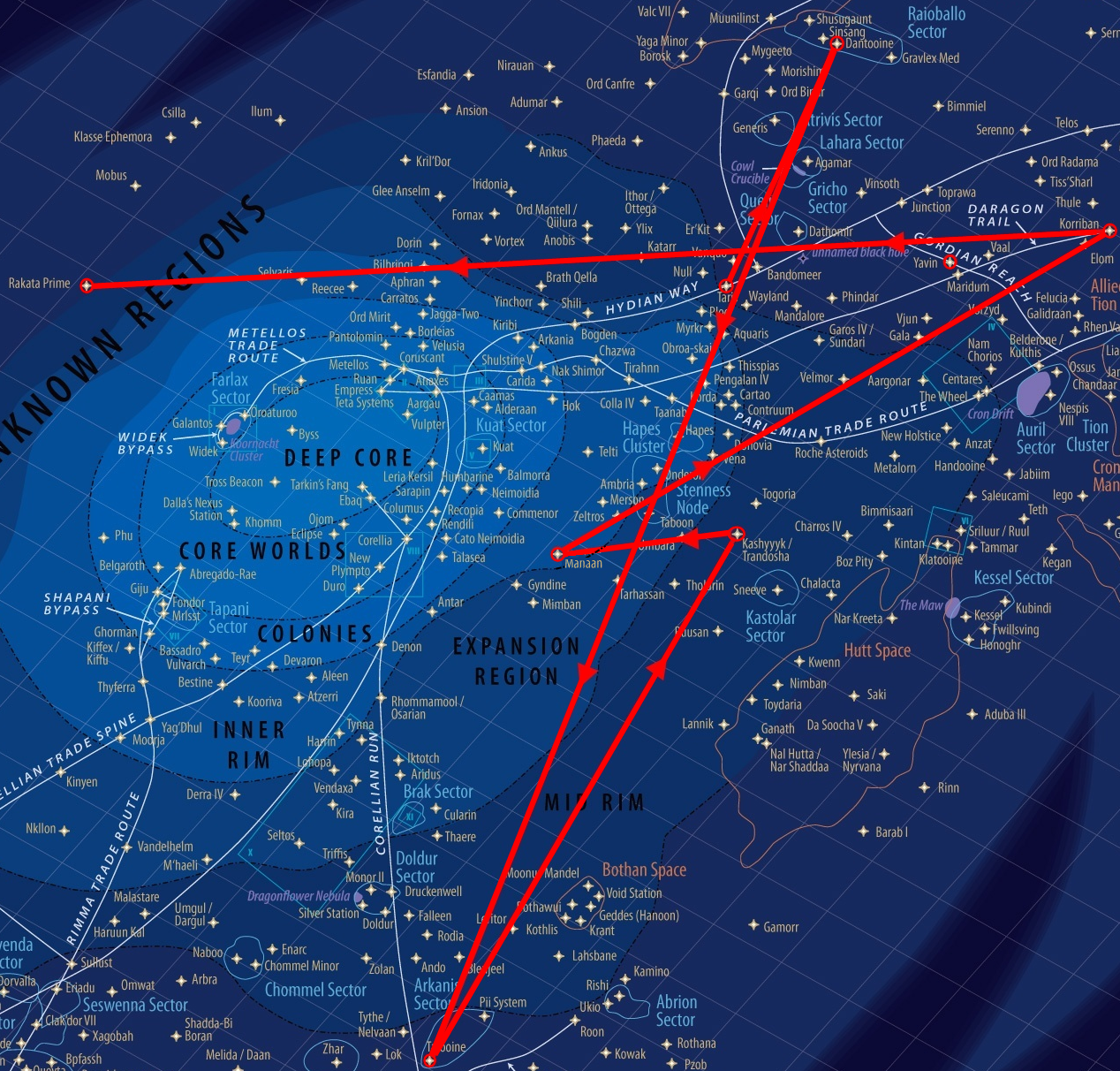 FileStar Wars Galaxy Map KOTOR Quest Focuspng Wikimedia Commons - Star wars old republic us map