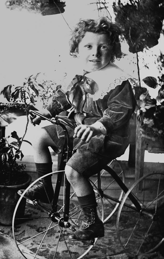 File Statelibqld 2 175879 Young Boy On A Tricycle 1900