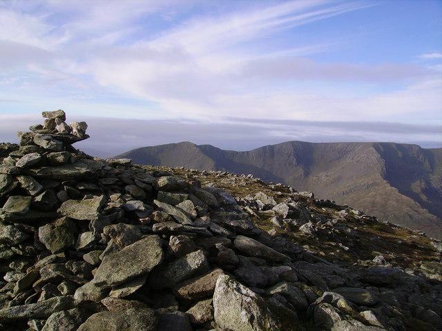 Summit Cairn, St. Sunday Crag - geograph.org.uk - 648673