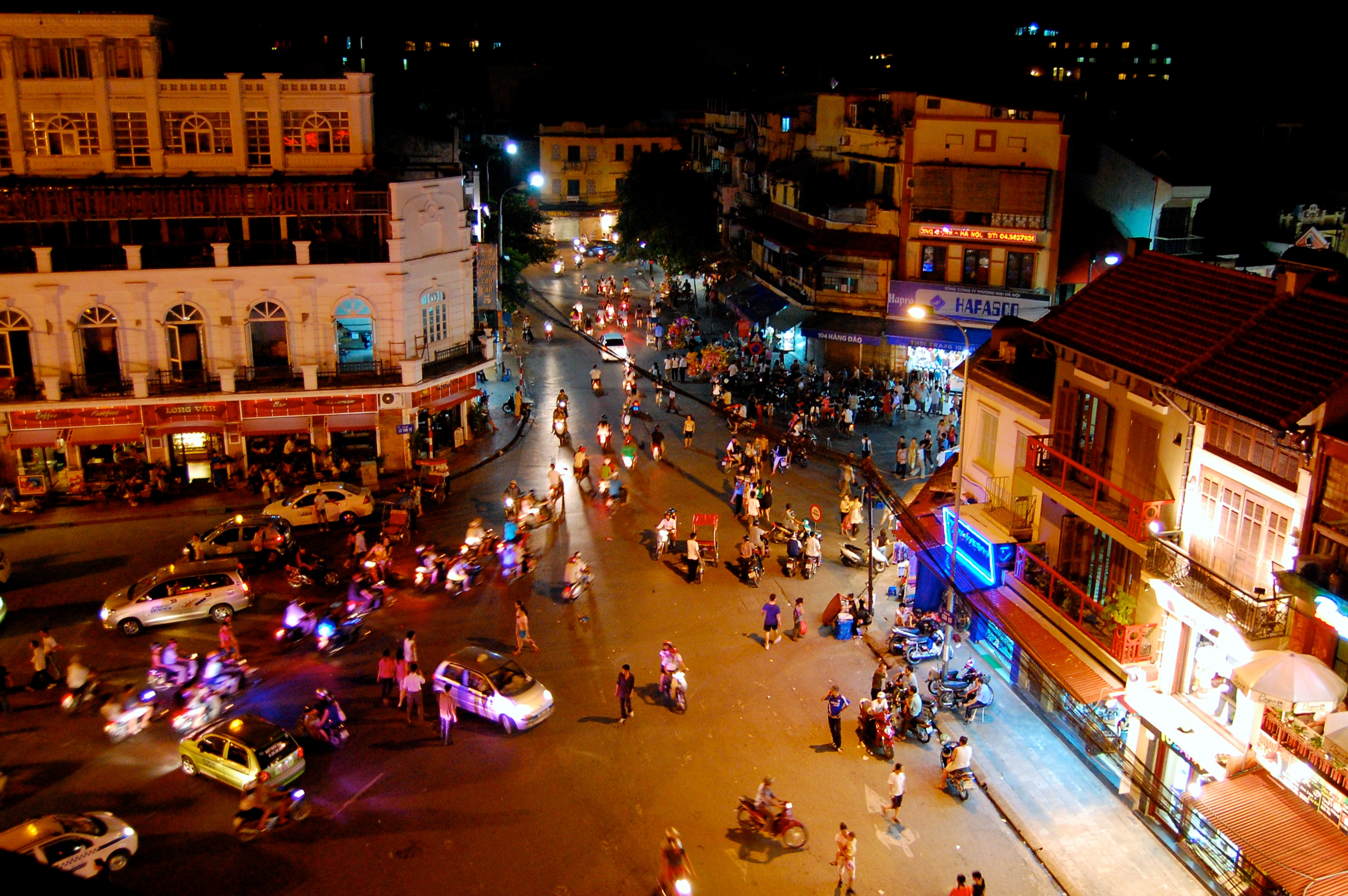 Busy Hanoi Streets