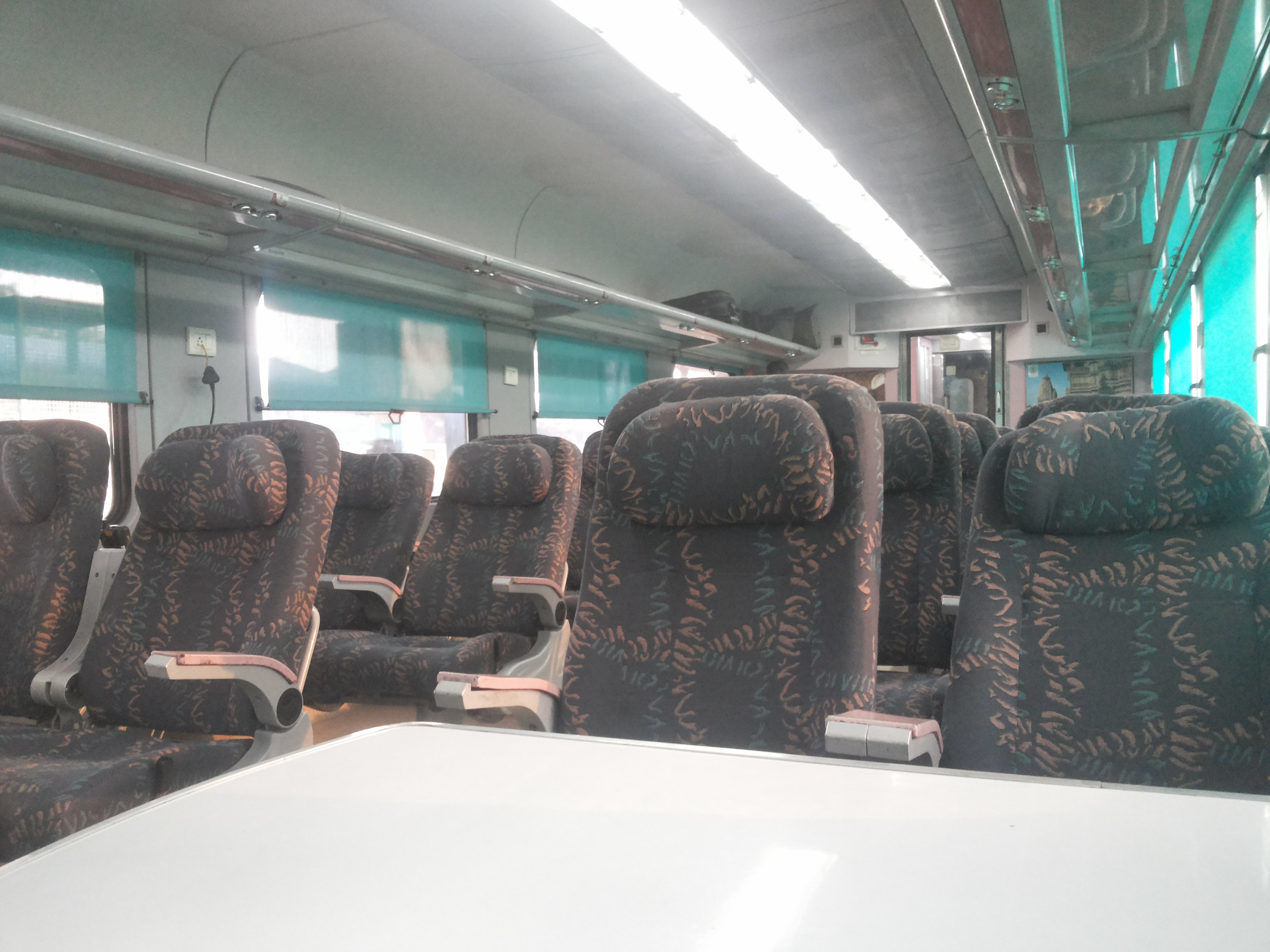 File:The Interior of the Executive Class or 1A of an LHB ... Shatabdi Express Executive Class