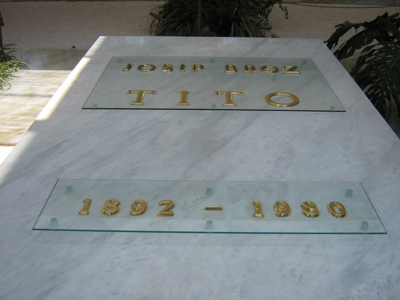 Tito's tomb in Kuća Cveća, or House of Flowers