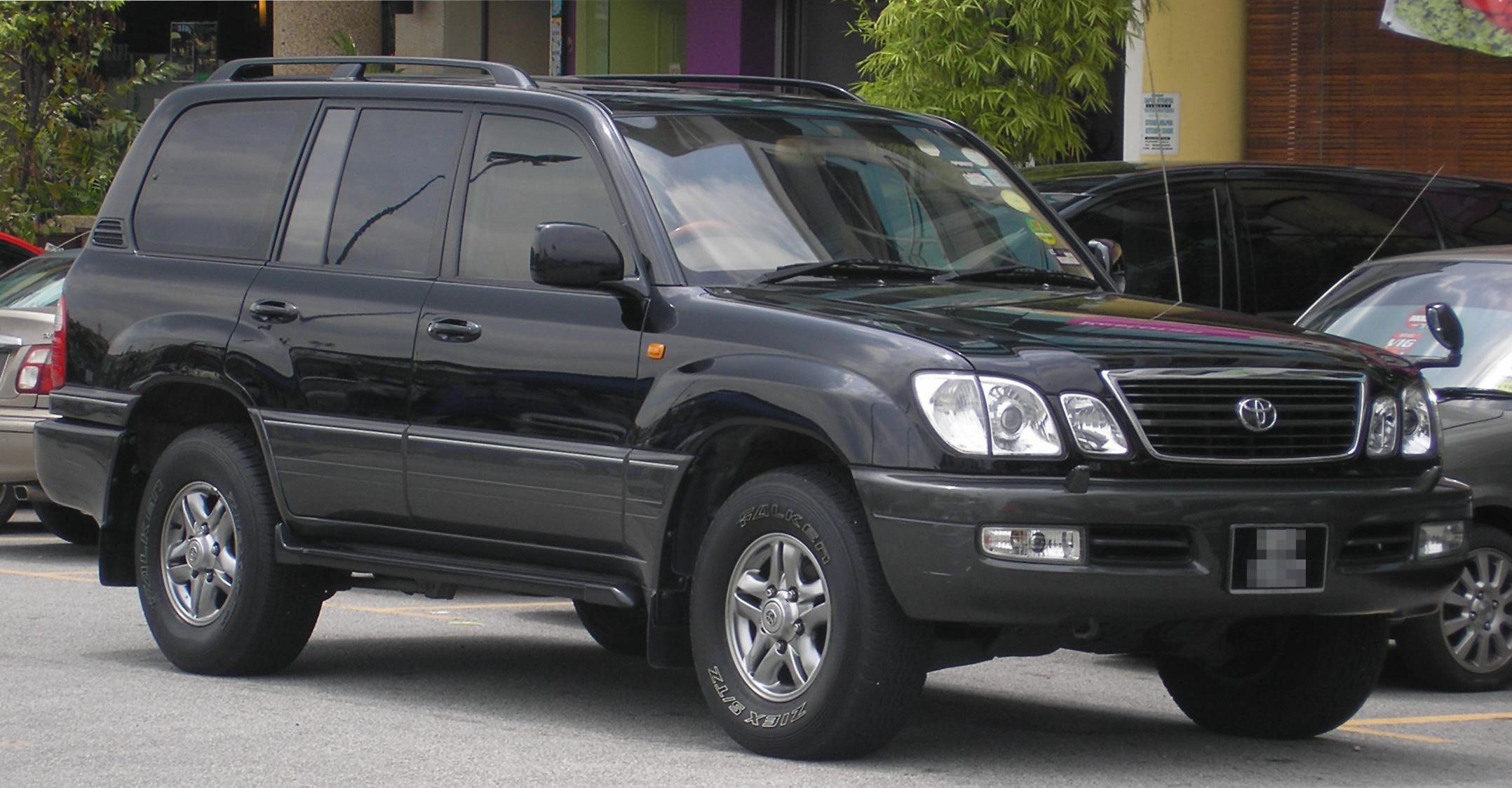 Toyota Land Cruiser Wiki >> File:Toyota Land Cruiser (eighth generation) (100 Cygnus) (front), Serdang.jpg
