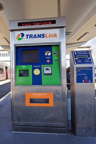 Description translink cubic ticket machine