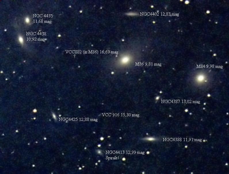 Resultado de imagen de El cúmulo de Virgo
