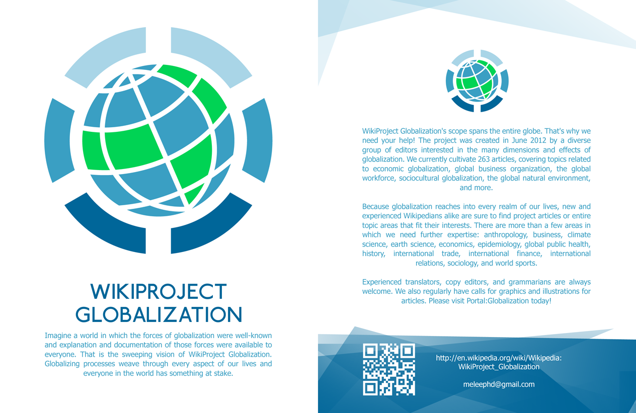 economic globalization essay essay questions for international  wikiproject leaflets latest version of leaflet wikiproject globalization leaflet front copy png