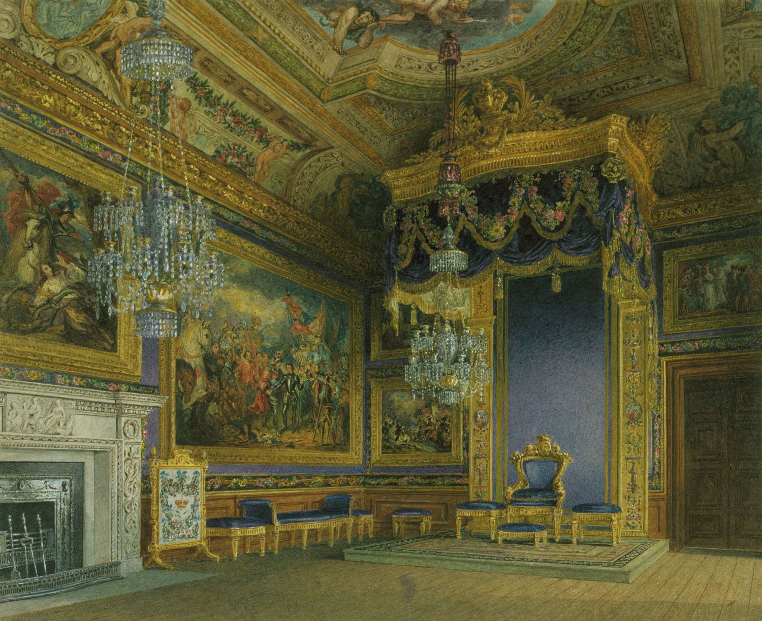 File Windsor Castle King S Audience Chamber By Charles