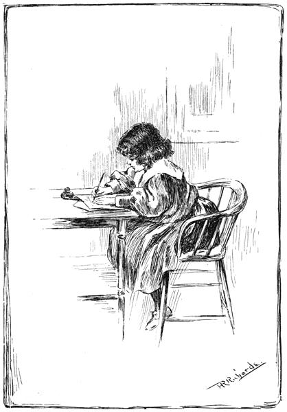 Child writing, 1896