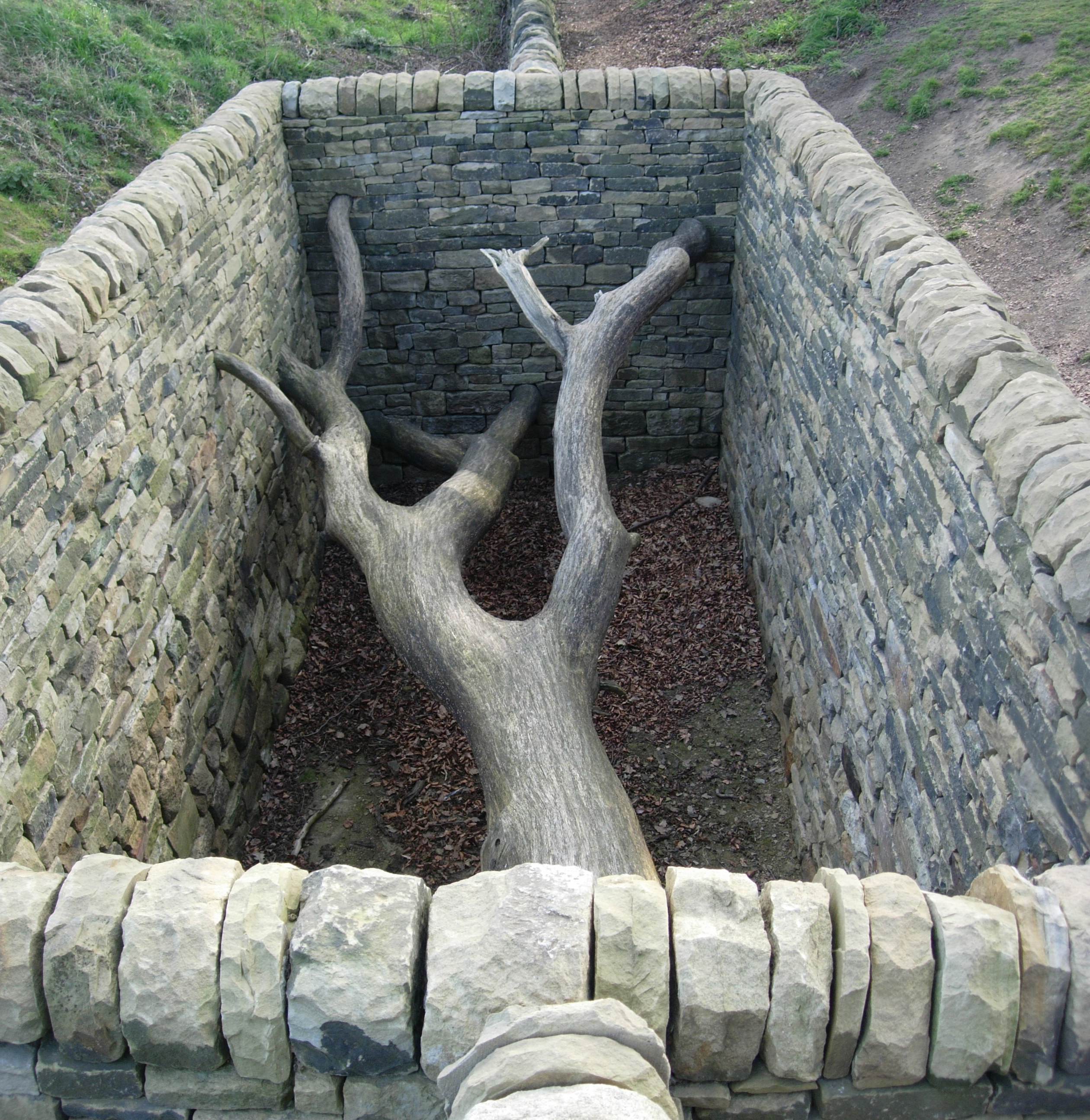 Yorkshire Sculpture Garden by Andy Goldsworthy