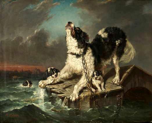 Inondation, peinture de Carl Friederich Kiorboe