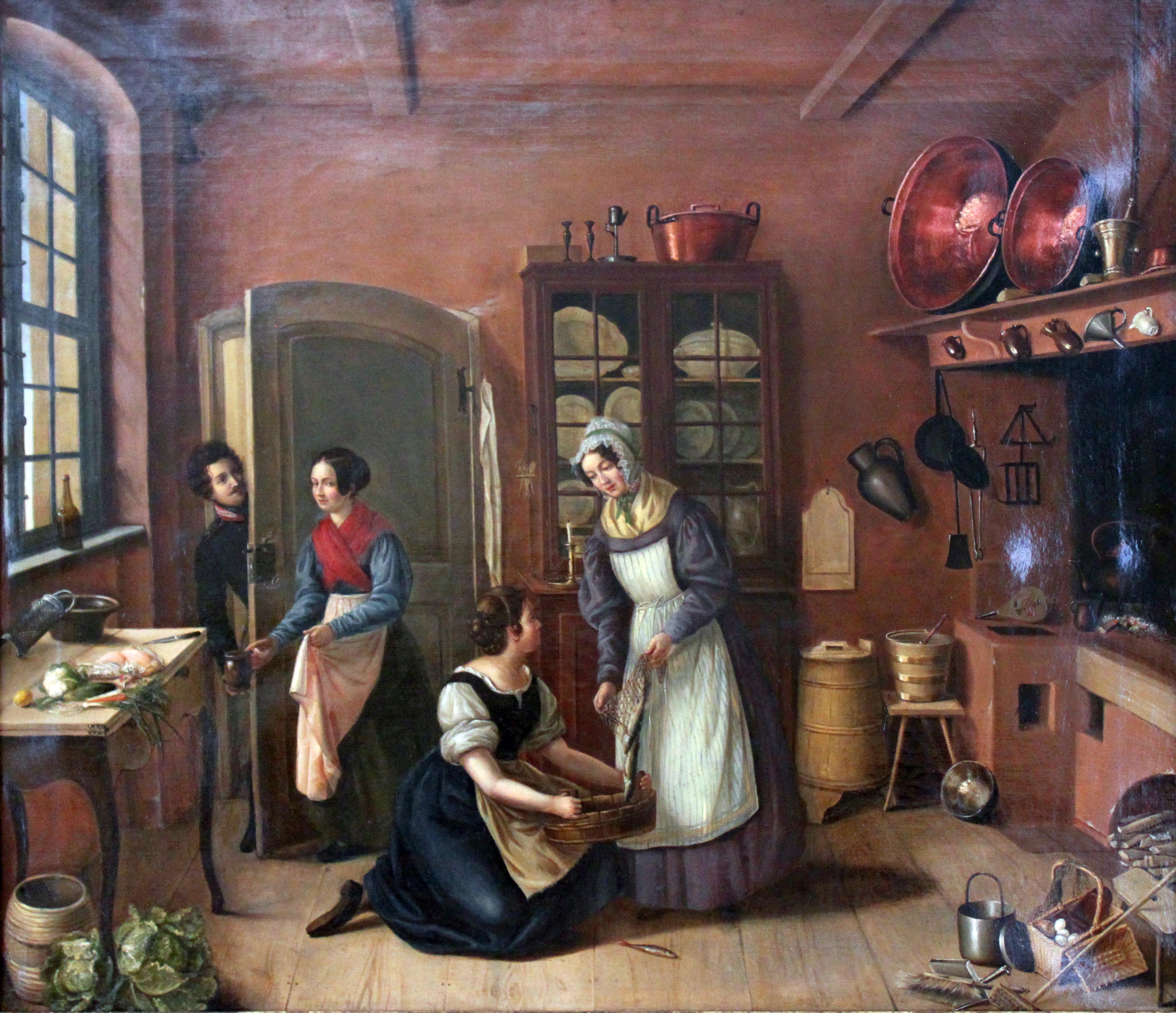 File 1850 Kobes Inneres Einer Berliner Kueche Anagoria Jpg