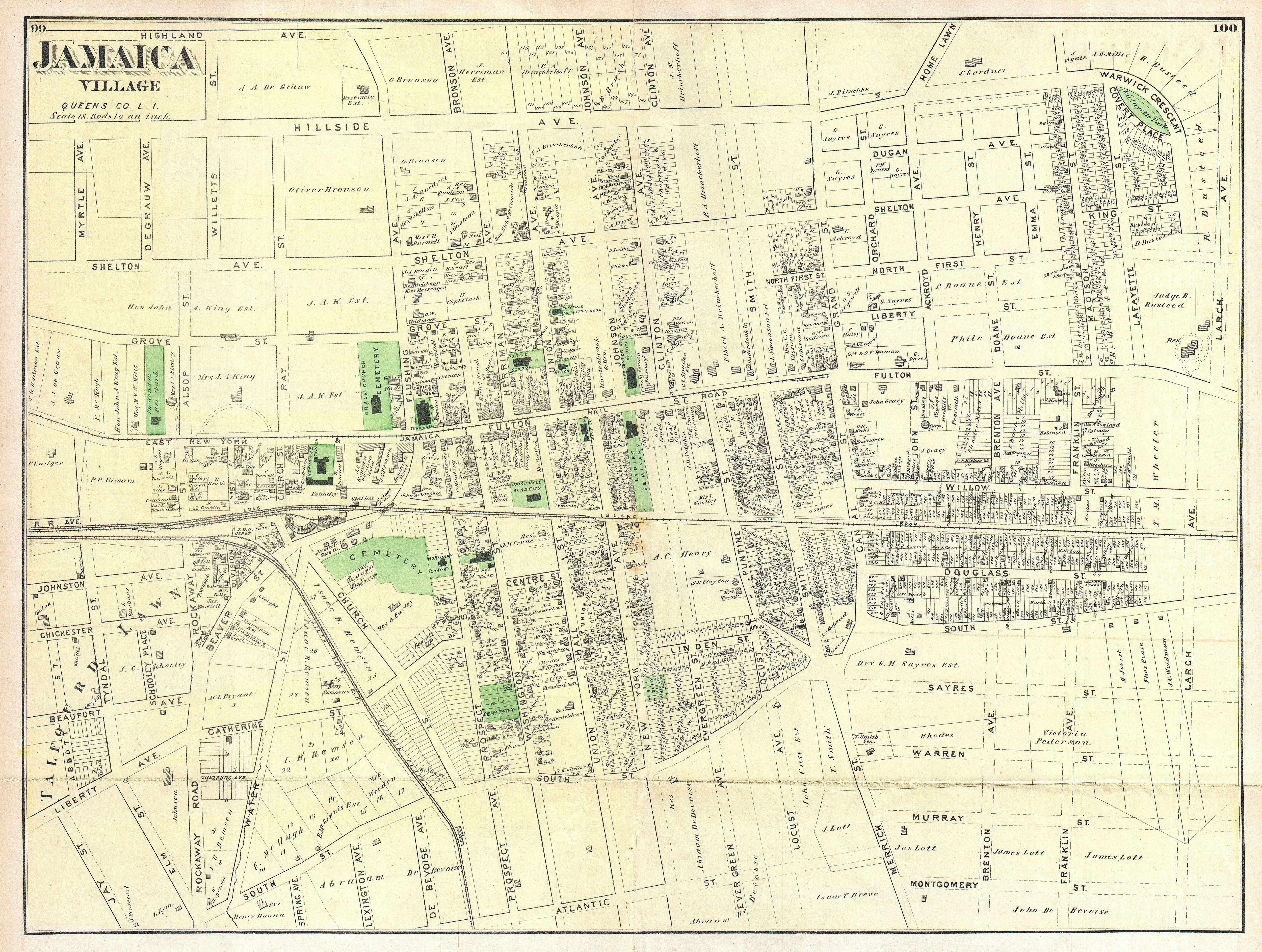 file1873 beers map of jamaica village queens new york city geographicus