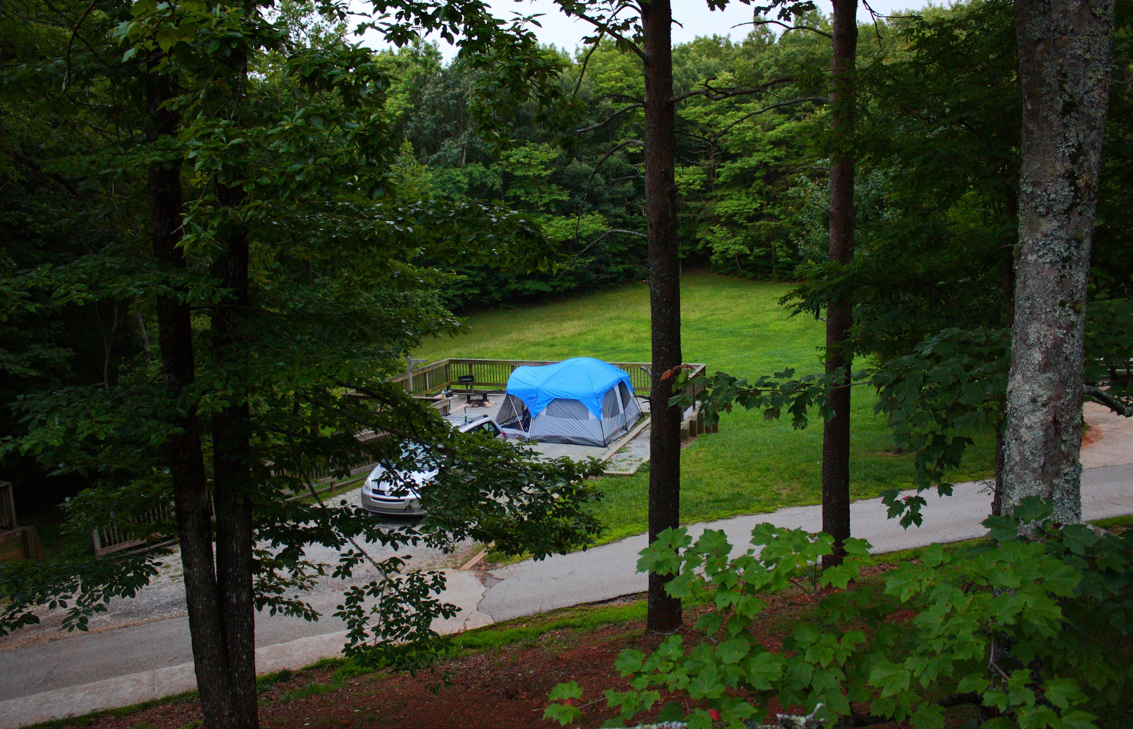 File A Campsite At Amicalola Falls State Park In Georgia