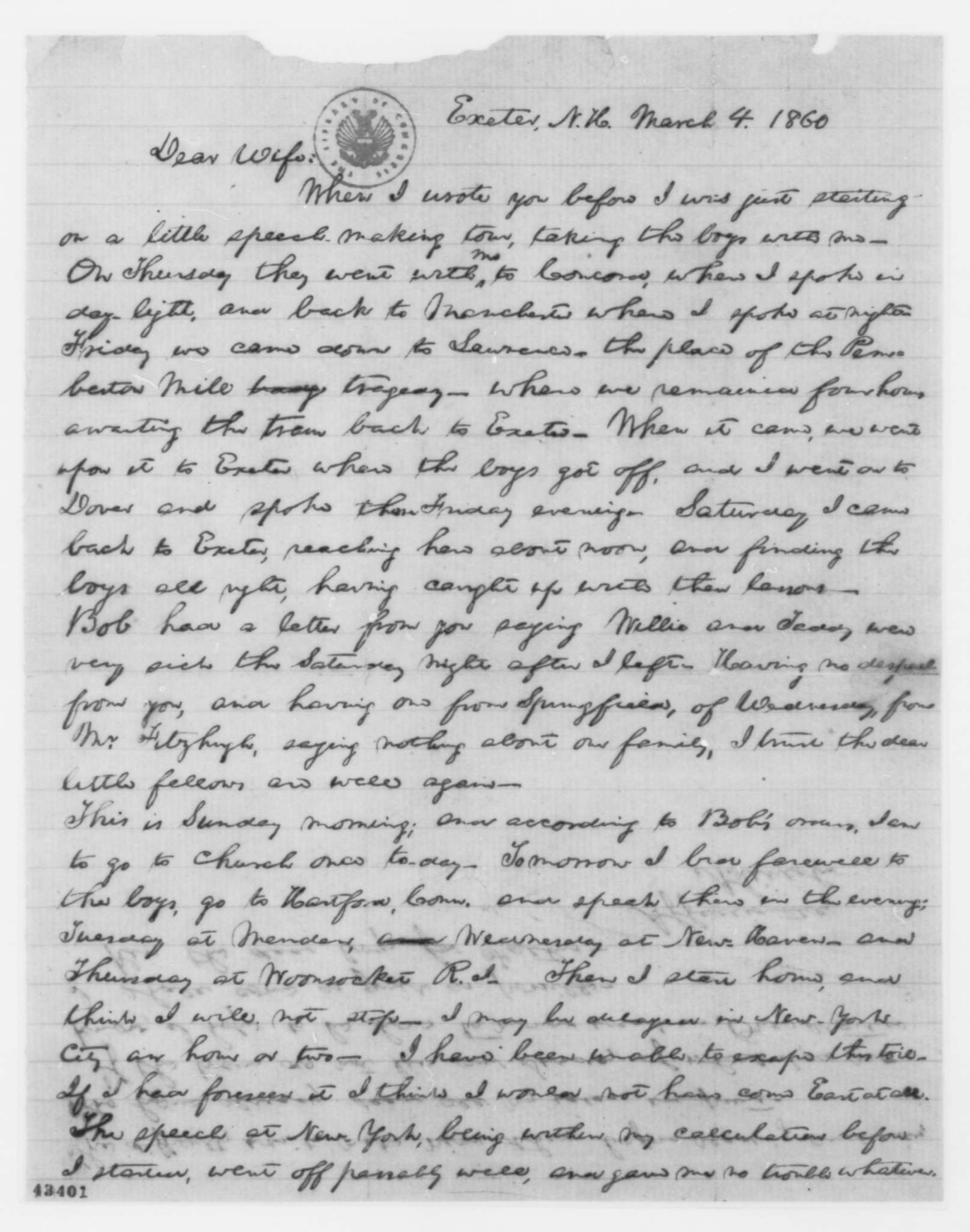 fileabraham lincoln letter exeter new hampshirejpg