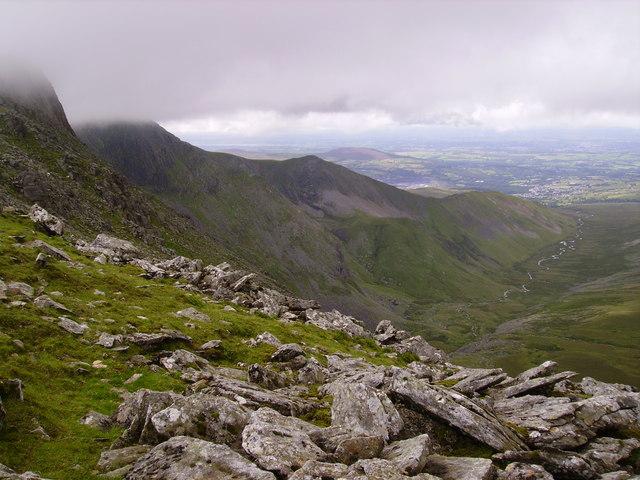 Afon Llafar from the ridge walk between Carnedd Dafydd and Carnedd Llewelyn - geograph.org.uk - 1313240