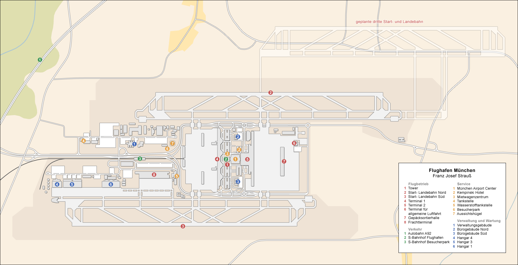 Airport munich diagram de