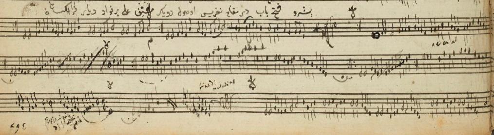 Müzikolog Ali Ufki Bey'in Nikrîz Peşrev notasyonu
