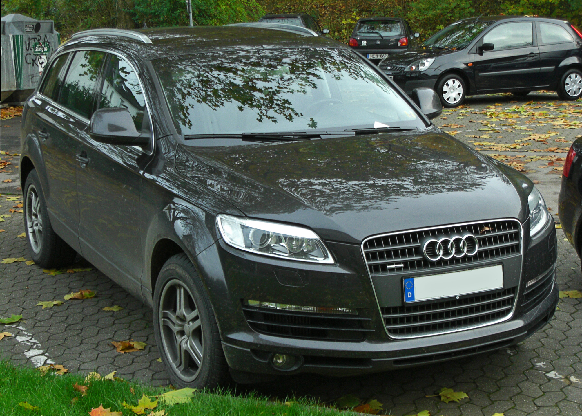 file audi q7 3 0 tdi quattro seit 2006 front mj jpg wikimedia commons. Black Bedroom Furniture Sets. Home Design Ideas