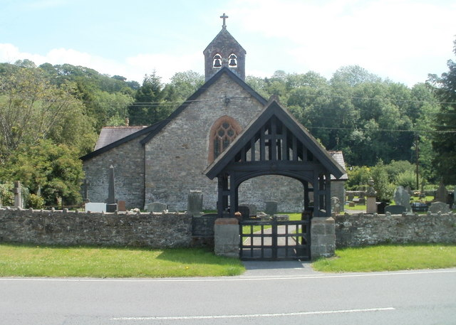 File:Bells, bell tower and lych gate, Church of St Cwrdaf, Llanwrda - geograph.org.uk - 2493469.jpg