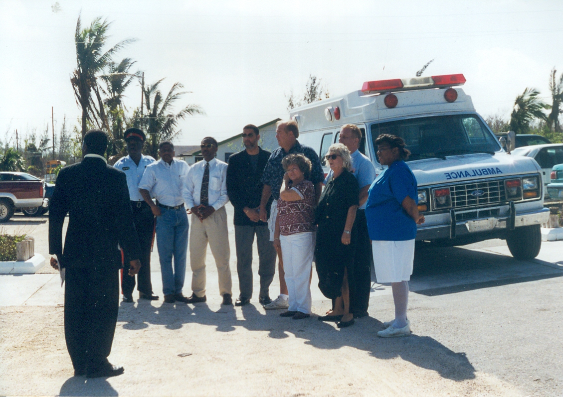 file bill and billie davis delivers and ambulance to abaco file bill and billie davis delivers and ambulance to abaco after hurricane floyd