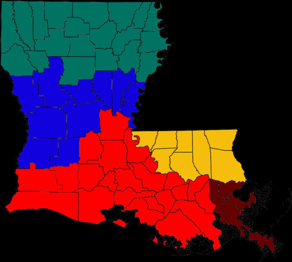FileBlank Louisiana Regions Mappng Wikimedia Commons - Louisiana map