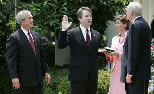 File:Brett Kavanaugh Takes Oath.jpg