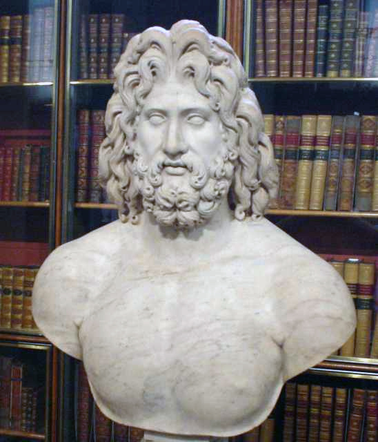 Roman marble colossal head of Zeus, 2nd century AD (British Museum)[15]