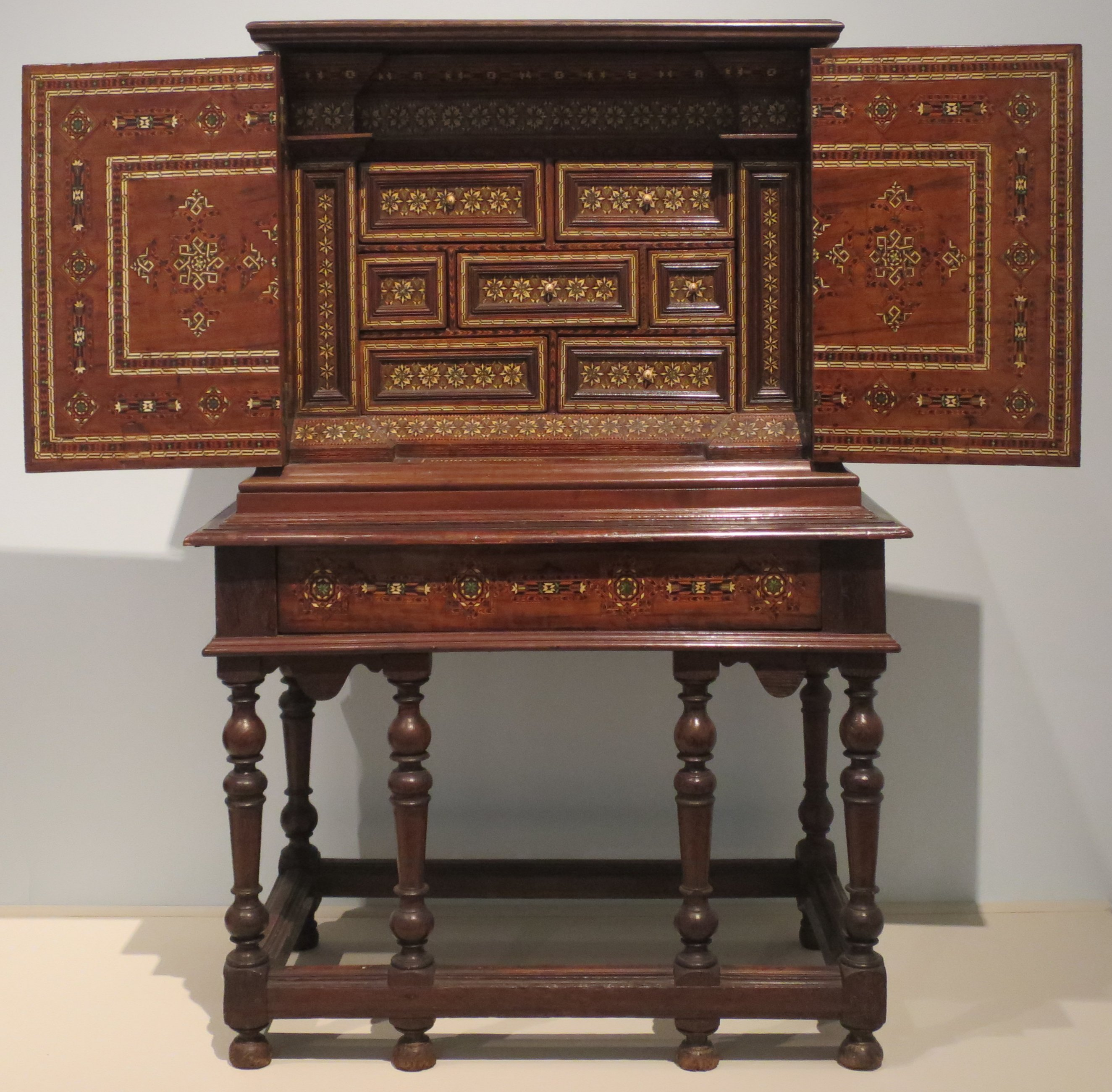 File:Cabinet From Spain, C. 17th Century, Wood, Ivory And Metal