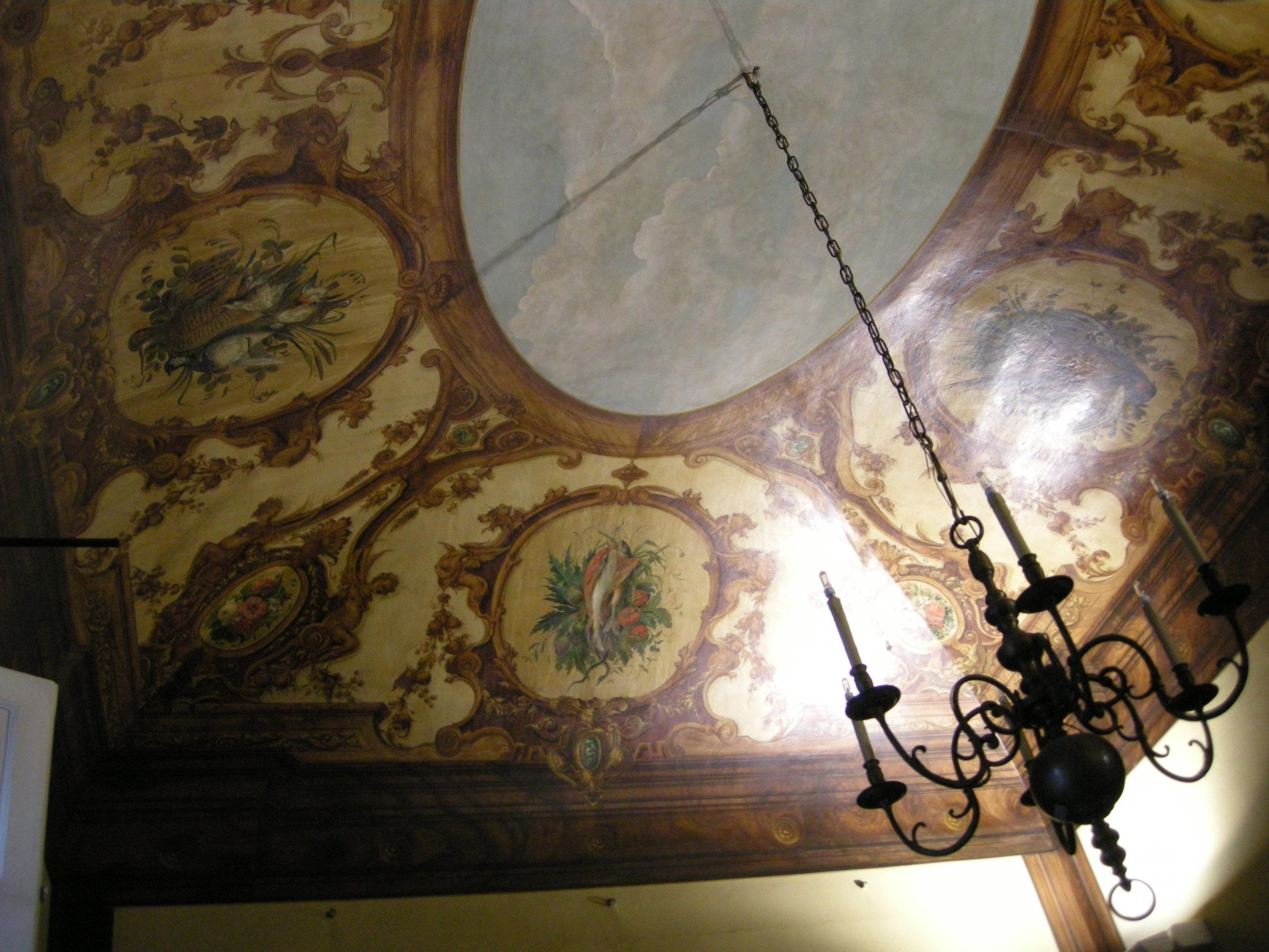 Description Casa Siviero Sala Da Pranzo Soffitto Di Stefano Ussi 02  #604826 2592 1944 Quadri Da Sala Da Pranzo