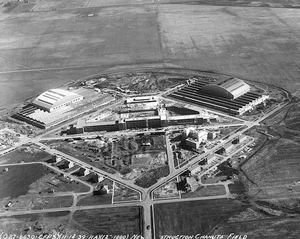 Chanute Field, Illinois, 12 November 1939. Note the lack of concrete runways. - Chanute Air Force Base