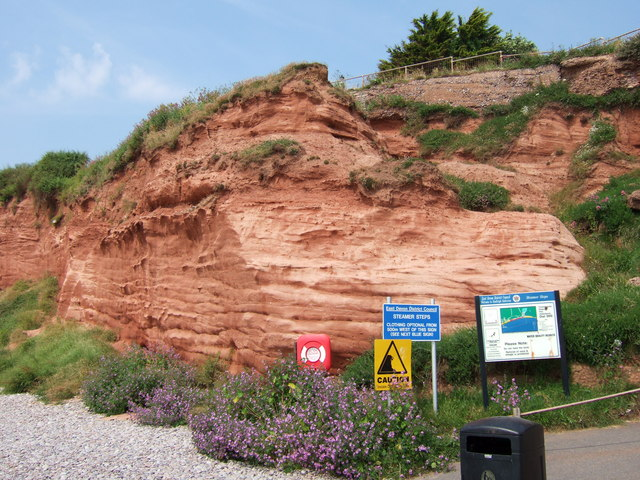 Cliffs at Budleigh Salterton. - geograph.org.uk - 198401