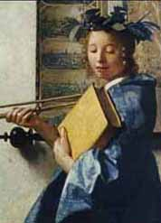 Clio, muse of history, from Johannes Vermeer, /The Allegory of Painting/