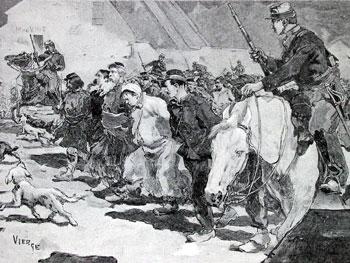"""""""  La  causa  de  la  civilización   ha  triunfado"""" (Thiers) Communeprisoners"""