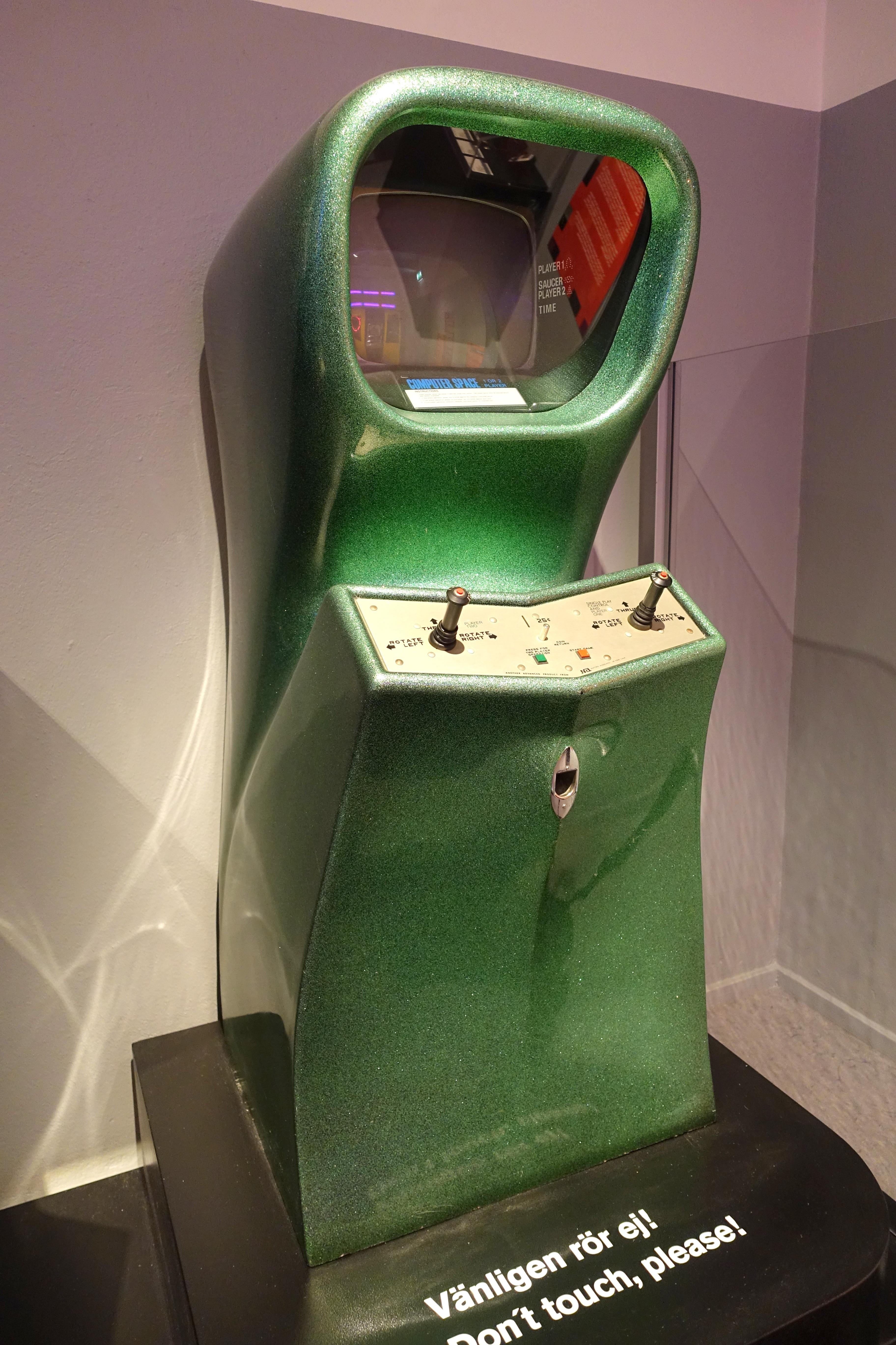 Computer space 1 hoặc 2 người chơi tại bảo tàng Stocklom, Thụy Điển