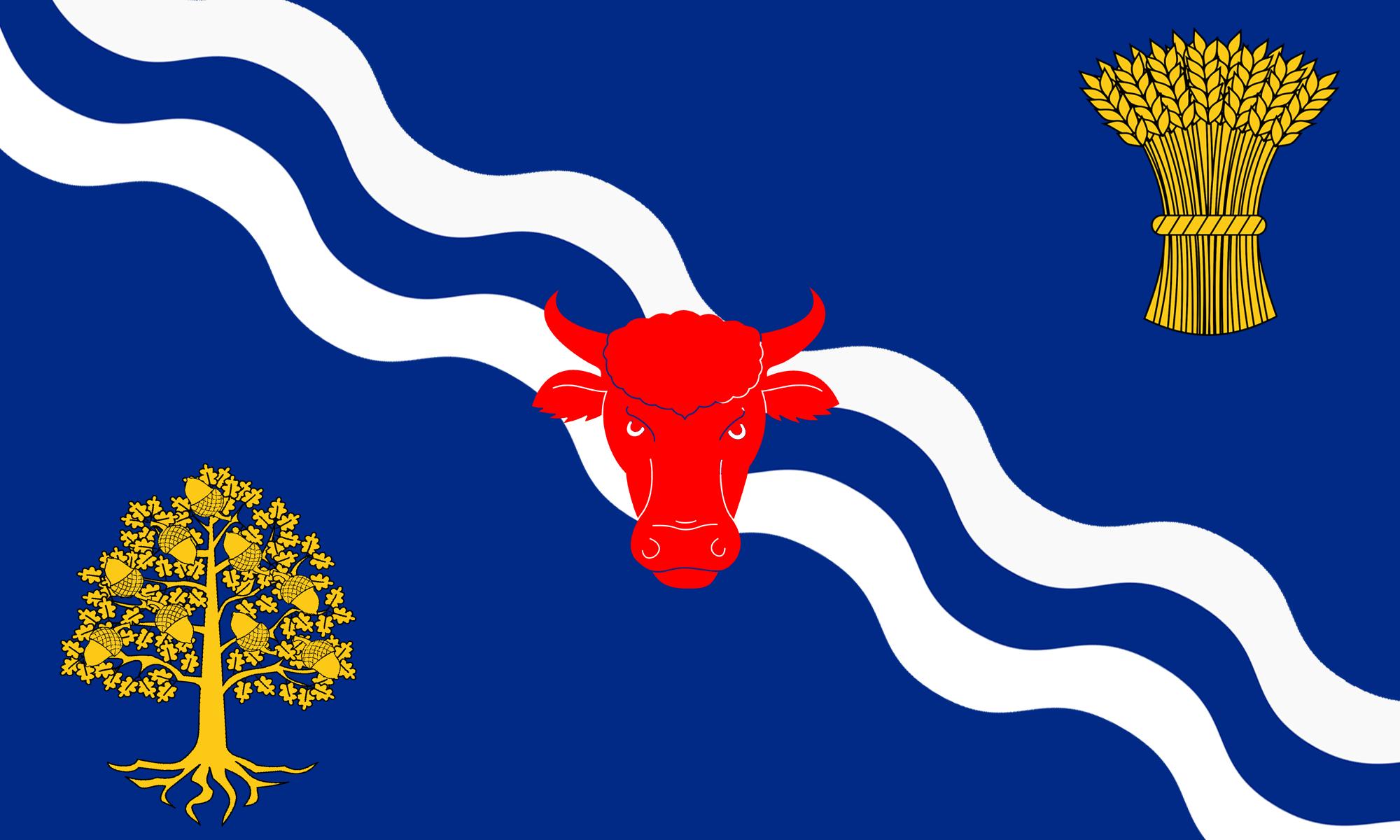 Oxfordshire Flag 5 x 3Ft