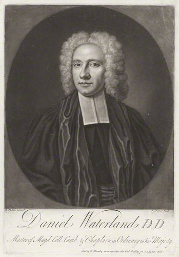 Daniel Waterland, engraving by [[John Faber the Younger