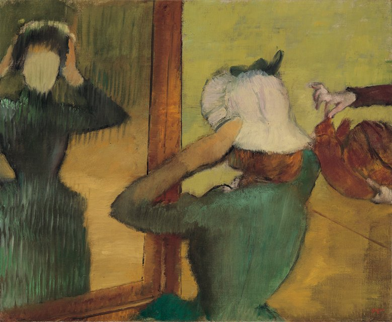 Degas At the milliner